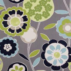Fanfare Curtain Fabric Smoke | Cheap Printed Curtain Fabrics | UK Delivery