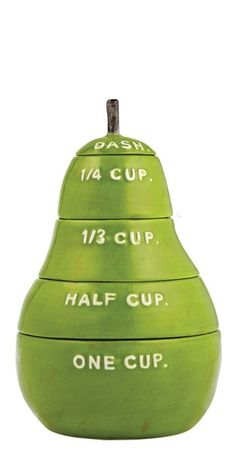 Pear measuring cups!