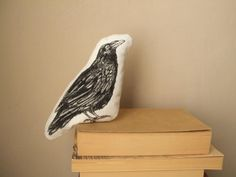 Its perfect if you are looking for a stuffed plush woodland creature as decorative item or as cuddly friend for a child.  This is a little black crow