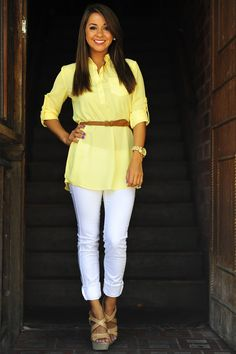 The Outback Tunic: Pale Yellow