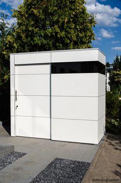 design gartenhaus @gart_eins by design@garten - dormagen, germany #Gartenhaus #shed #Gerätehaus #Flachdach # HPL