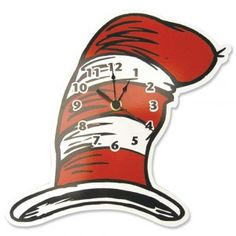Dr. Seuss Cat In The Hat – Hat Wall Clock