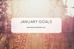 Monthly Goals | January Goals - Futures