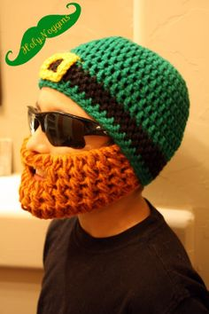 Childs St Patricks Beard Beanie Size by HolyNoggins on Etsy, $32.00