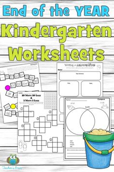 Print and Go worksheets to help your kinders review everything they learned all year long!  Writing, LA, math and games are included in this resource.  There is even a summer journal for kindergarten students to keep sharp with their writing skills.