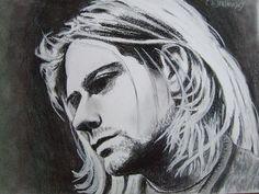 that faraway look. Kurt Cobain House, Kurt Cobain Art, Nirvana Kurt Cobain, Joker Face, Smells Like Teen Spirit, Art Google, Music Artists, Art Inspo, Art Drawings