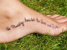 30 Best Love Tattoo Quotes Almost perfect placement for my next tattoo.