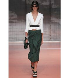#marni - cropped crepe jacket