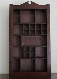 Large Dark Wood Shadow Box With 23 Various Sized by home621goods