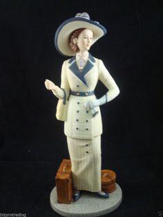 Home Interior Homco Parasol Ladies Porcelain Figurines Lot of 6