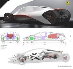 futuristic car, Ferrari