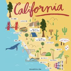 Pin by nnnq on map in 2019 Travel Maps, Travel Posters, Travel Usa, Places To Travel, Valencia California, California Map, Zion National Park, National Parks, Route 66