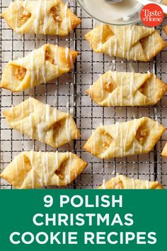 Our best Polish Christmas cookies - Recipes - Free, Easy and Delicious ideas Easy Christmas Cookie Recipes, Best Christmas Cookies, Christmas Cooking, Holiday Recipes, Polish Christmas Cookie Recipe, Cookie Desserts, Holiday Baking, Christmas Desserts, Cookie Favors