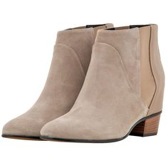 Pearl Grey Augusta Ankle Boots ($565) ❤ liked on Polyvore featuring shoes, boots, ankle booties, ankle boots, grey bootie boots, augusta, gray booties, grey boots and short gray boots