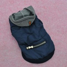 Windproof Small Pet Dog Clothes with Hat Zipper Thick Autumn Winter Coats XS s M | eBay