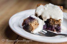 AIP Blueberry Cake with Lemon Cream Sauce
