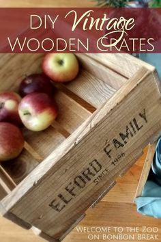 DIY Vintage Wooden Crates