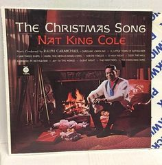 NAT KING COLE - THE CHRISTMAS SONG - VINTAGE CAPITOL RECORDS HOLIDAY LP SM-1967 #Christmas