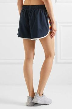 The Upside - Sunset Run Shell Shorts - Navy - x small