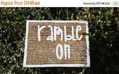 Check out this item in my Etsy shop https://www.etsy.com/listing/494598147/cm-ramble-onramble-on