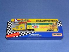 1994 NASCAR Matchbox Superstars . . . #41 White House Apple Juice Racing . . . 1/87 Scale Transporter Diecast . . . Series II . . . Limited Edition by NASCAR. $2.95