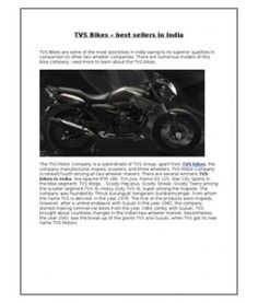 TVS Bikes – best sellers in India