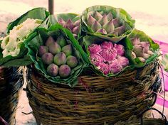 Lotus Flowers, Flower Market, Bangkok, Thailand by David, via Flickr
