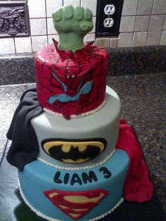 Super Hero Cake by mistys boopettie cakes, via Flickr