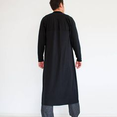 This garment is available in sizes ————————————— MENS SIZE CHART: S (US 34 / EU Chest 35 in cm) Waist 31 in cm) Seat 36 in cm) Height 56 in cm) M (US / EU Chest: Long Kimono Cardigan, Men Cardigan, Black Cardigan, Minimalist Fashion, Mantel, Sweaters For Women, Long Black, Long Sleeve, Cardigans