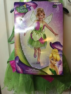 Disney fairy girl costume Size 4-6X with wings Renaissance dress up New #Disney #CompleteOutfit