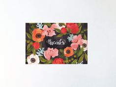 Thanks  postcard by oanabefort on Etsy, $3.00