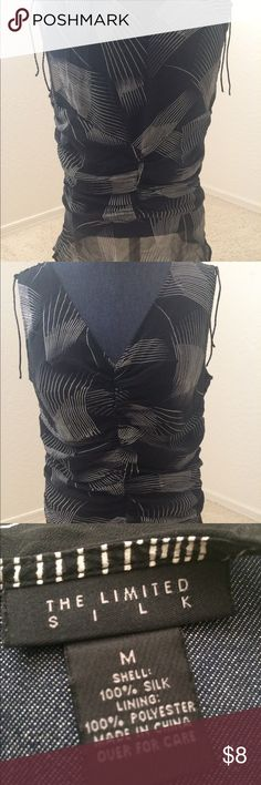 The Limited Silk Sleeveless Top Super cute top to wear out or to work.  Adjusting strings at the shoulders. The Limited Tops Blouses