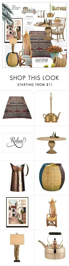 """""""Nature...."""" by nihal-imsk-cam ❤ liked on Polyvore featuring interior, interiors, interior design, home, home decor, interior decorating, Currey & Company, Hooker Furniture, Southern Enterprises and Crate and Barrel"""