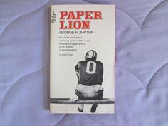 NFL - Paper Lion by George Plimpton - Pocket Books 1967 - Excellent Condition
