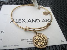 Alex and Ani Because I Love You Mom Rafaelian Gold Bracelet New #AlexandAni #Bangle
