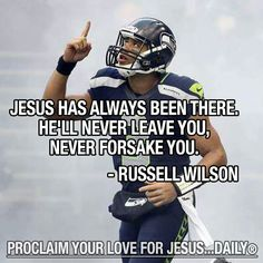Russell Wilson - Proclaim your love for Jesus