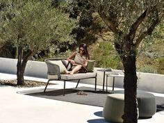 Piergiorgio Cazzaniga Designed Vis à Vis Sofa For Tribù, An ... Outdoor Lounge Vis A Vis