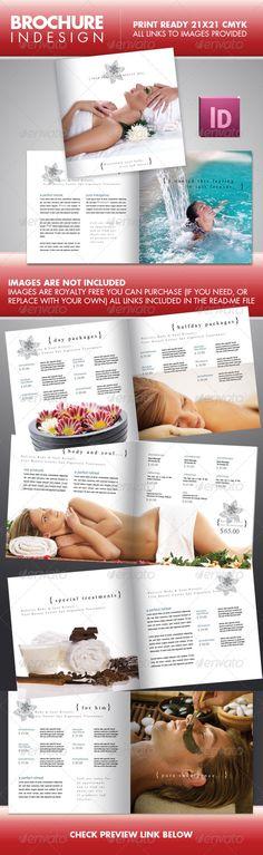 Natural Day Spa & Massage Brochure Template | Spa Ideas | Pinterest