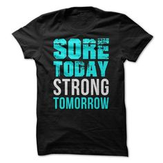 SORE TODAY STRONG TOMORROW T SHIRT - #money gift #fathers gift. PRICE CUT  => https://www.sunfrog.com/Fitness/Sore-today-strong-tomorrow-lifting-bodybuilding-workout-fitness-tee-t-shirts.html?id=60505