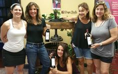 """Kathy Prager & her book club made an Opus Blend wine with us. They bottled their aged to perfection blend a few weeks ago. """"Their Novel Well Red"""" will be a delicious addition at future meetings.  Interested in learning how your group can make your own #wine together? Attend one of Grape Finale's #Winemaking Open Houses on 8/23 or 8/24 (7-9 pm) to learn how to make your own wine with award winning winemakers at #GrapeFinale. Wine sampling & appetizers. Free. Reservations not required."""