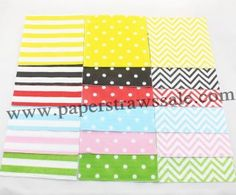Paper Napkins http://www.paperstrawssale.com/4000pcs-mixed-10-colors-polka-dot-paper-napkins-p-647.html