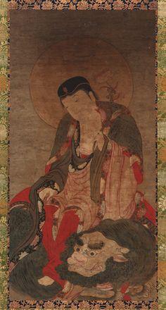 Manjusri (Wenshu), Yuan or Ming Dynasty Cave Paintings, Buddhist Artwork, Buddhist Art, Painting, Traditional Paintings, Art, Buddhism Art, Chinese Art, Art History