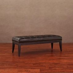 @Overstock - Enhance your home and living decor with this uniquely styled Valencia nail head leather bench. This leather bench features a dark brown upholstery, dark brown finished wood and antique, dark brass-finished individual nail heads.http://www.overstock.com/Home-Garden/Valencia-Dark-Brown-Leather-Nail-Head-Bench/6328199/product.html?CID=214117 $168.99