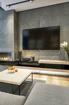Inspiring Modern Wall Texture Design for Home Interior is part of Inspiring Modern Wall Texture Design For Home Interior Modern interior decoration designs can help you fully remodel your home w - Home Fireplace, Modern Fireplace, Living Room With Fireplace, Fireplace Design, Living Room Tv, Interior Design Living Room, Living Room Designs, Interior Modern, Interior Livingroom