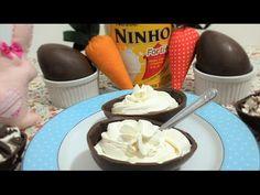 Como fazer ovo de colher com recheio de leite ninho - YouTube
