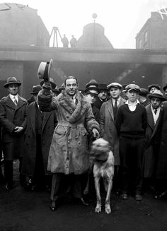 Rudolph Valentino photographed at a Chicago factory, ca. 1925.