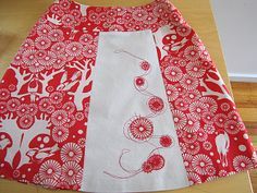 tutorials -- raw-edge applique and a squiggle of stitchery.