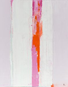 """Pink 'Stripe"" by Tracey Kafka, $750, 24"" x 30"", available at #serenaandlily. As seen on @sfgirlbybay."