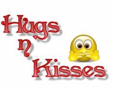Gifs animados de Emoticono besos y abrazos