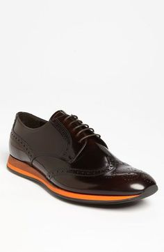 What a beautiful shoe! Prada Leather Wingtip available at #Nordstrom